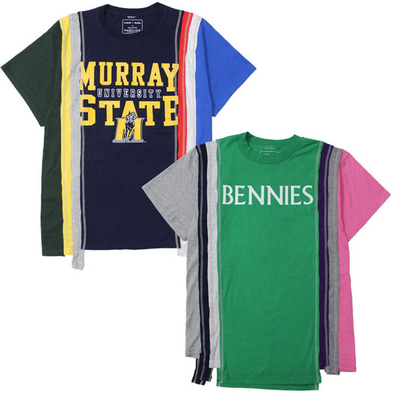 """REBUILD BY NEEDLES(リビルドバイニードルス)""""7 Cuts S/S Tee - College"""""""