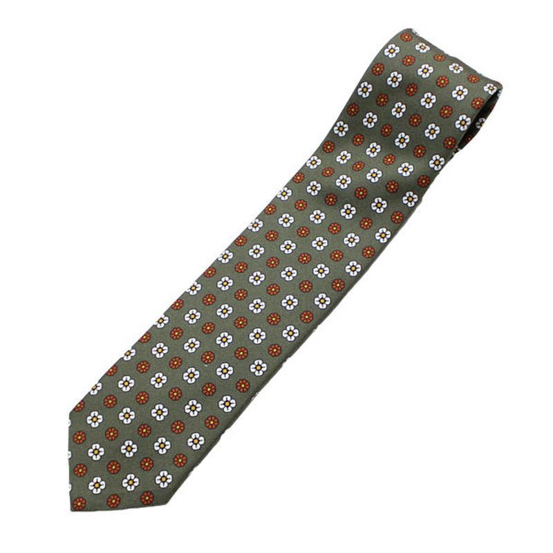 """LARDINI(ラルディーニ)""""Silk Flower Print Tie"""""""