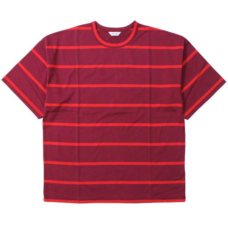 "WELLDER(ウェルダー)""Wide Fit T-Shirts - border"""