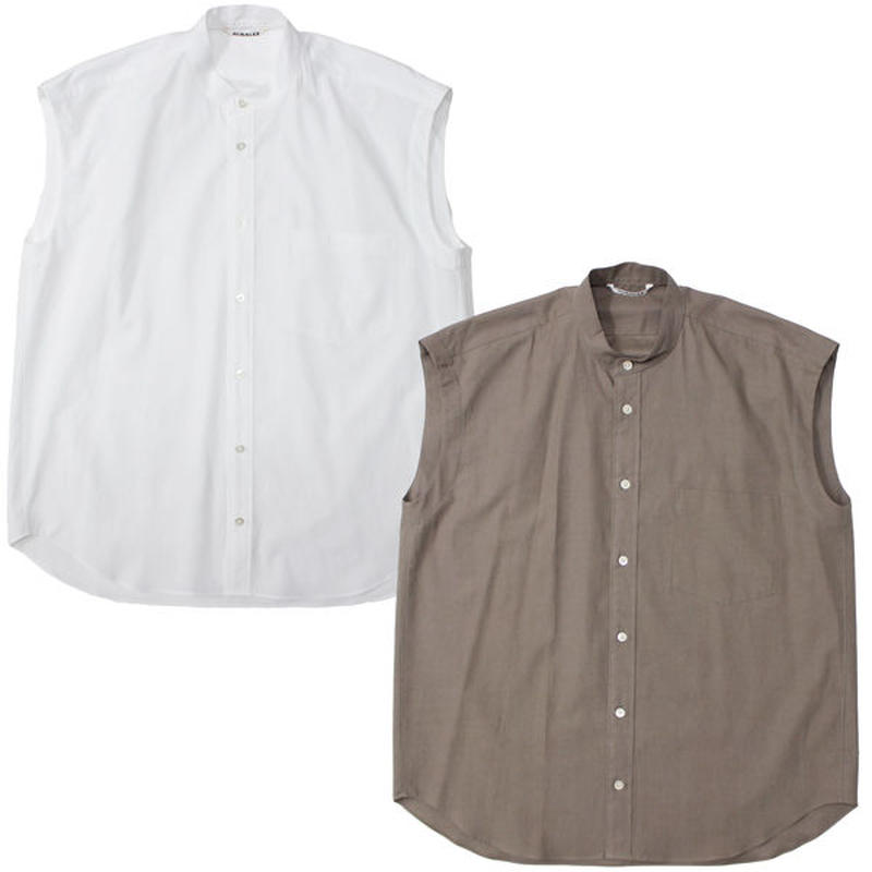 "Ladies' /AURALEE(レディース オーラリー)""WASHED FINX TWILL SLEEVELESS SHIRTS"""