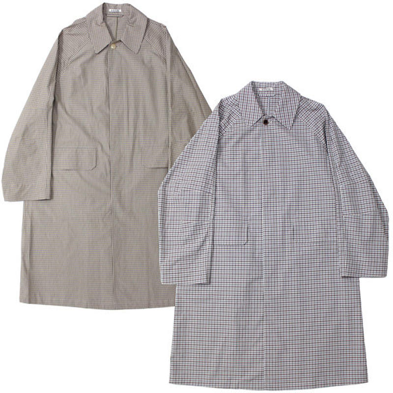 "AURALEE(オーラリー)""FINX WEATHER CLOTH CHECK COAT"""