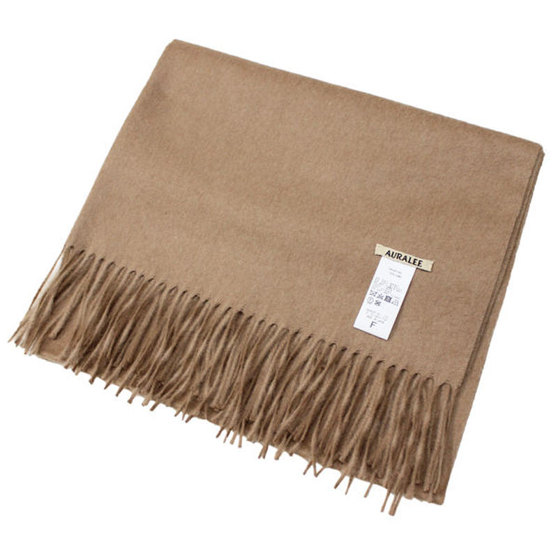 "AURALEE(オーラリー)""BABY CAMELHAIR WIDE STOLE"""