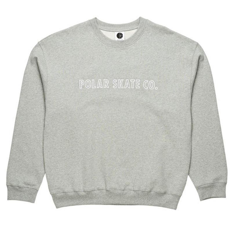 "POLAR SKATE CO.(ポーラー スケート カンパニー)""OUTLINE CREWNECK"""