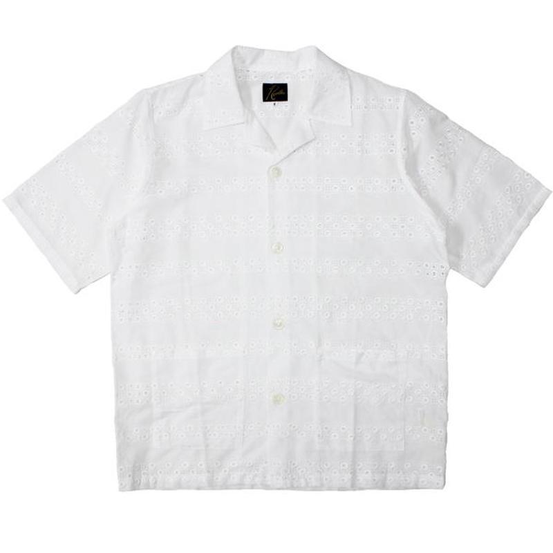 "NEEDLES(ニードルス)""Cabana Shirt - Cotton Cloth / Stripe Emb."""