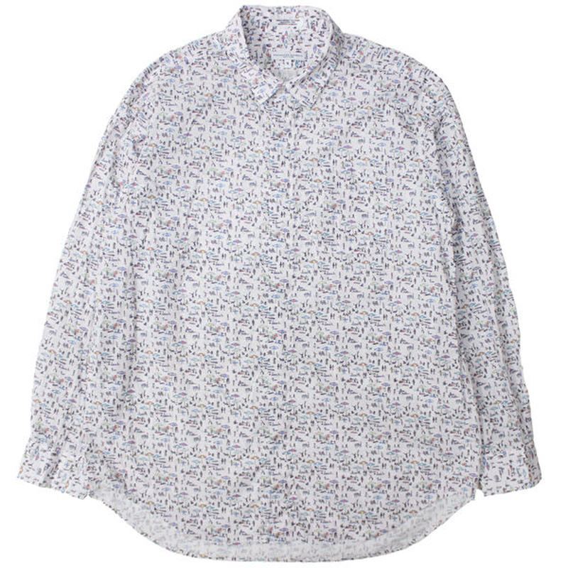 "ENGINEERED GARMENTS(エンジニアド ガーメンツ)""Short Collar Shirt - Beach Print"""