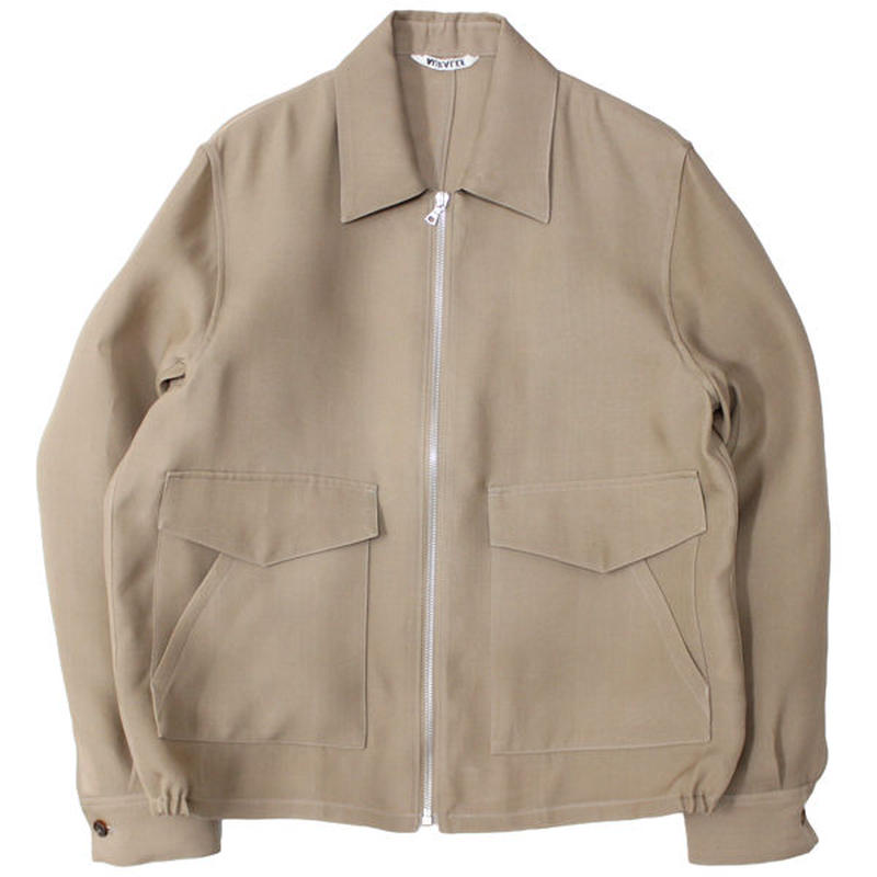 "AURALEE(オーラリー)""SILK TRIPLE CLOTH ZIP BLOUSON"""