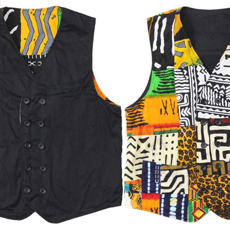 "ENGINEERED GARMENTS(エンジニアド ガーメンツ)""Reversible Vest - High Count Twill"" black"