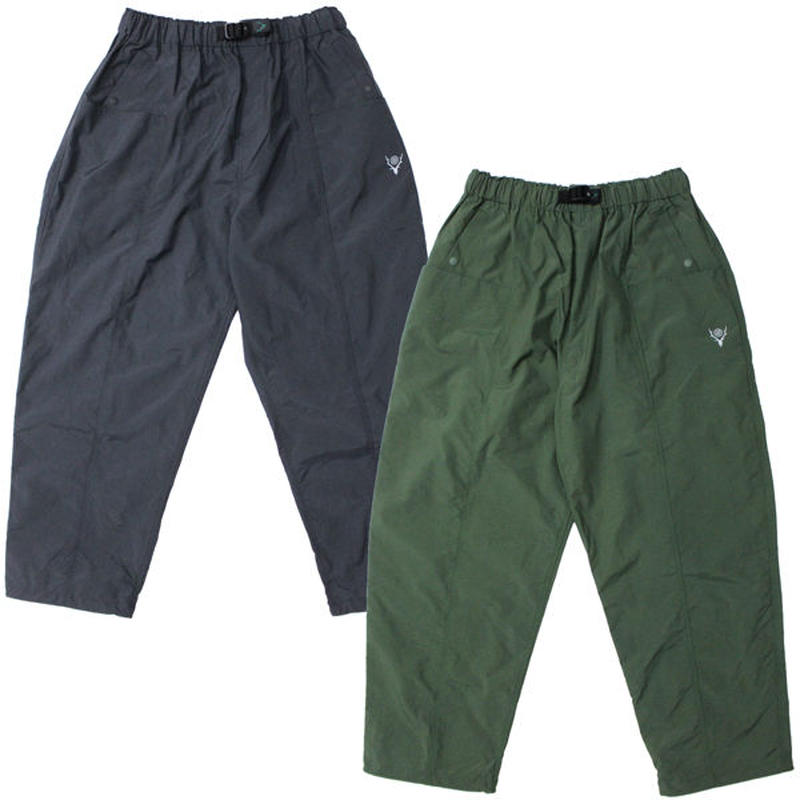"South2 West8(サウスツーウエストエイト)""Belted Center Seam Pant - Nylon Taffeta / Acrylic Coating"""