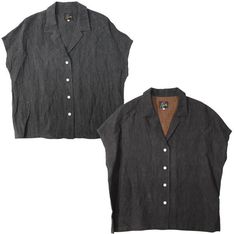 "Ladies' /NEEDLES WOMAN(ニードルス ウーマン)""French Sleeve Blouse - Linen Cloth / Natural Dye"""