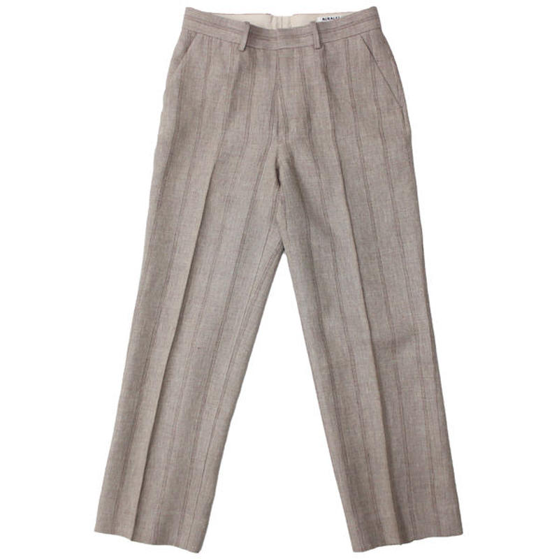 "AURALEE(オーラリー)""LINEN WOOL SILK SHARK SKIN SLACKS"""