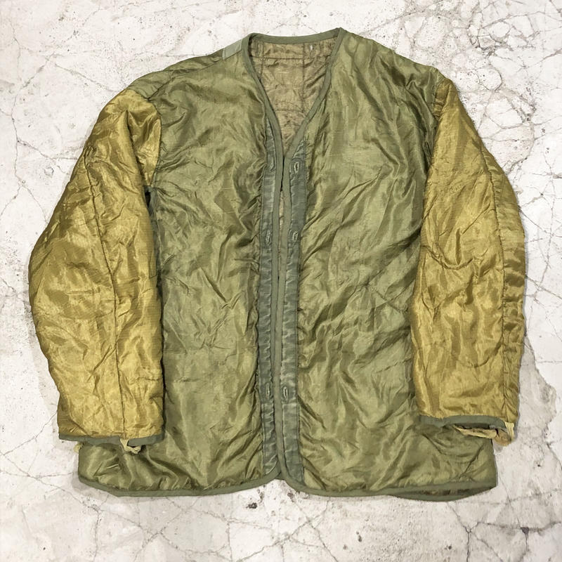 70's U.S.ARMY Quilting Liner Jacket 2tone