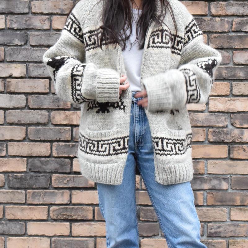 90's Cowichain Sweater Thunderbird