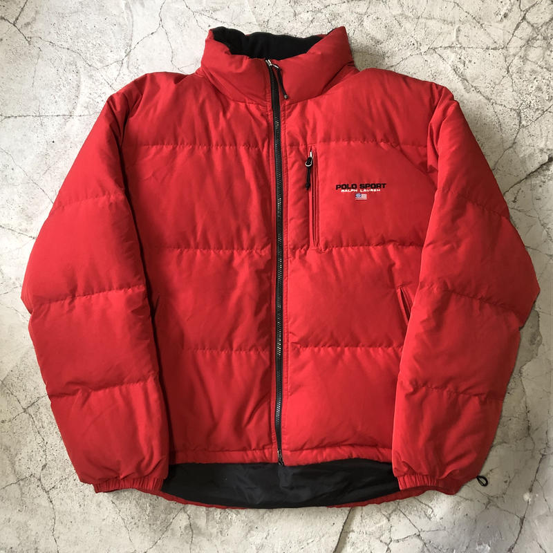 90's PoloSport Fish  Tail Down Jacket