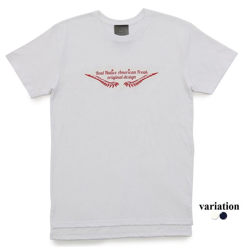 Longlength Feather logo T shirt