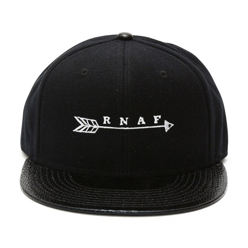 Arrow embroidery Snake skin brim twill flat Cap