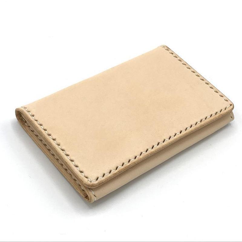 名刺入れ/カードケース ヌメ革:ナチュラル【選べるステッチカラー】(r200)
