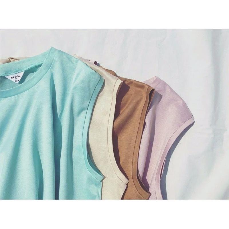 "#301🔻SPOOL BY B&H  ""Macaron No Sleeve Tops"""