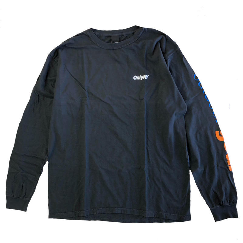 ONLY NY OUTDOOR GEAR MOCKNECK L/S T-SHIRT vintage black オンリーニューヨーク 長袖Tシャツ