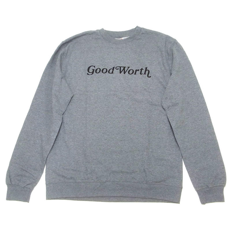 GOOD WORTH   OG LOGO CREWNECK SWEAT HEATHER グッドワース スウェット