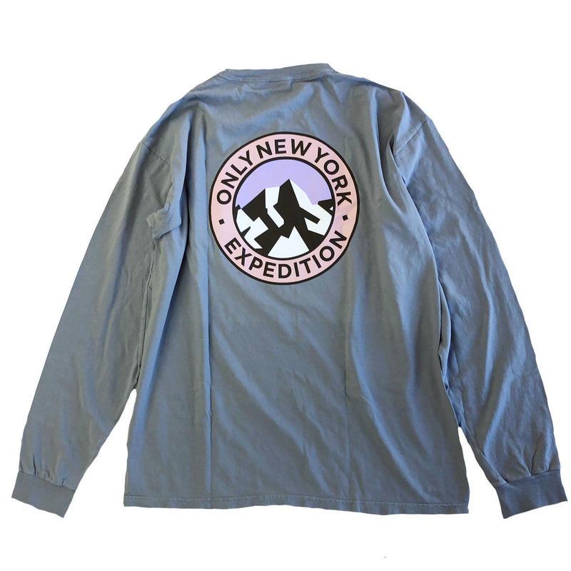 ONLY NY EXPEDITION L/S T-SHIRT granite オンリーニューヨーク 長袖Tシャツ