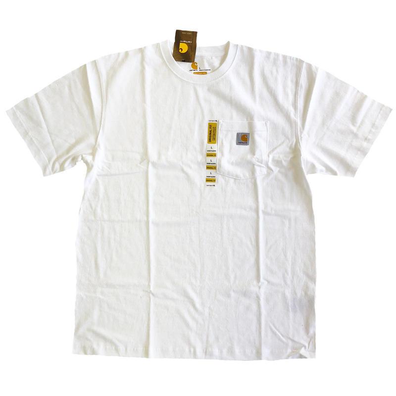 CARHARTT / WORKWEAR POCKET TEE  WHITE  カーハート Tシャツ