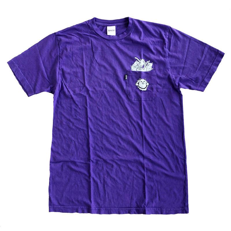 RIPNDIP /  STUFFED TEE S/S TEE PURPLE リップンディップ  Tシャツ