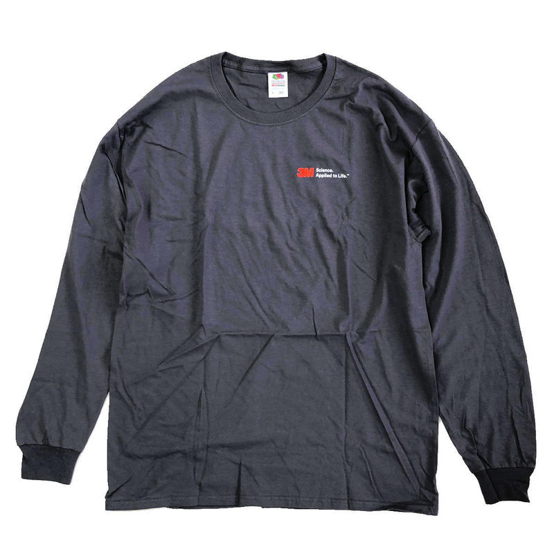 3M  BASIC LOGO L/S TEE  CharcoalGrey 長袖Tシャツ