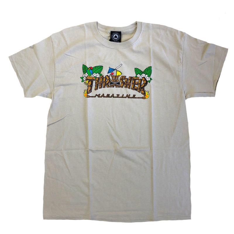 THRASHER  TIKI S/S TEE  SAND スラッシャー Tシャツ