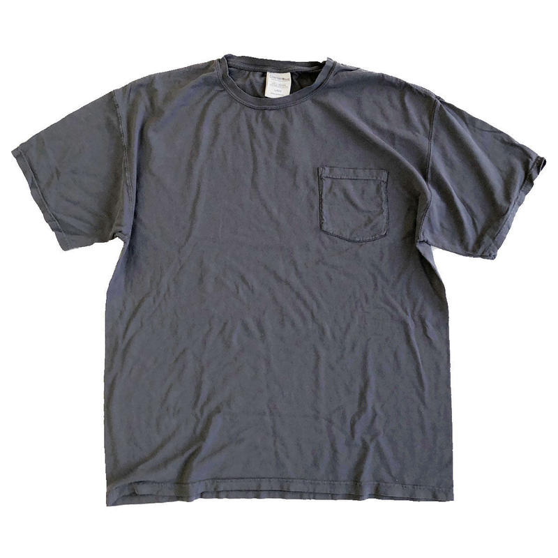 COMFORT WASH BY HANES / Ringspun Cotton Garment-Dyed S/S TEE NEW RAILROAD ヘインズ 後染め Tシャツ