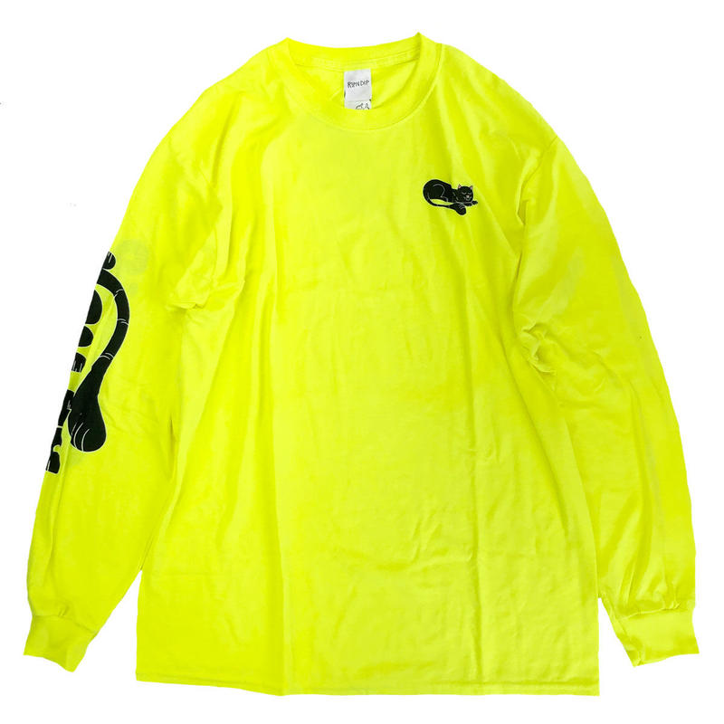 RIPNDIP / RIPNTAIL L/S TEE  SAFETY GREEN  リップンディップ 長袖Tシャツ