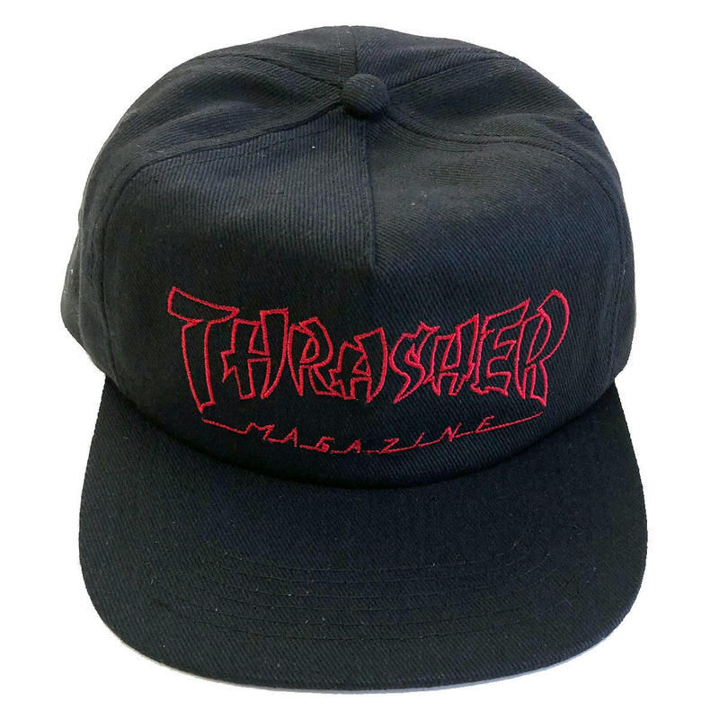 THRASHER CHINA BANKS SNAPBACK BLACK キャップ スラッシャー