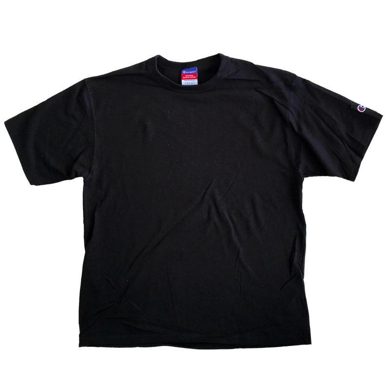 CHAMPION 7oz Heritage Jersey S/S TEE  BLACK チャンピオン Tシャツ ヘリテージ USA企画