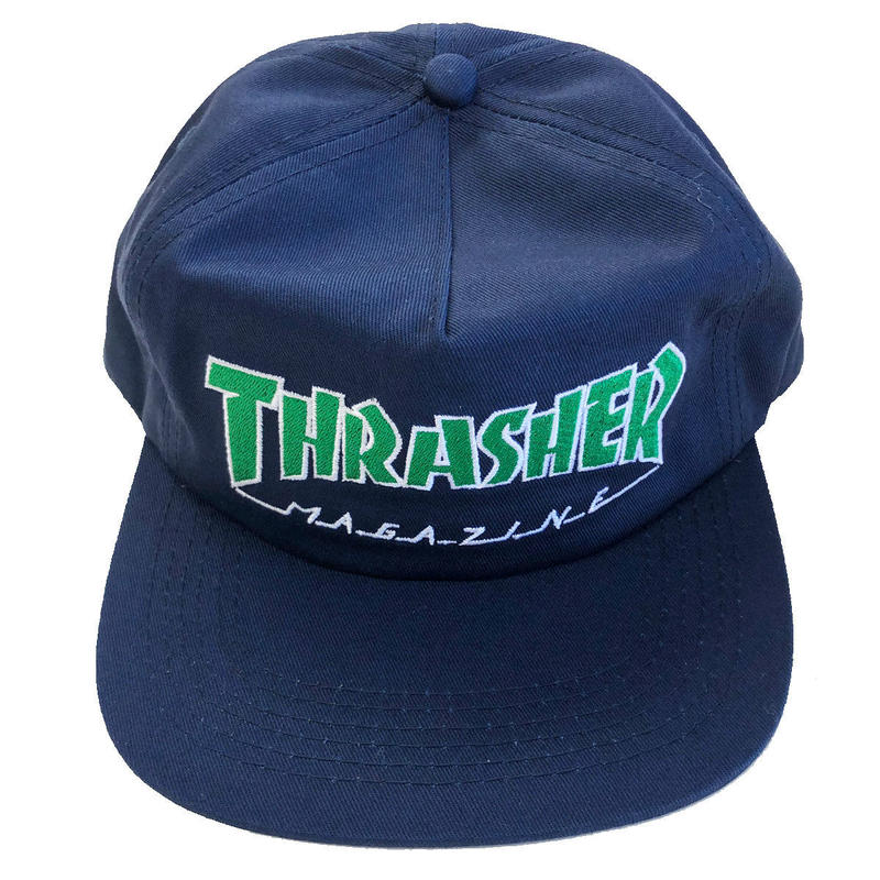 THRASHER  OUTLINED SNAPBACK NAVY スラッシャー キャップ