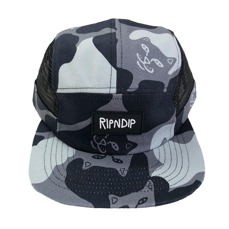 RIPNDIP NERM CAMO SIDE MESH 5PANEL BLACKOUT CAMO リップンディップ キャップ