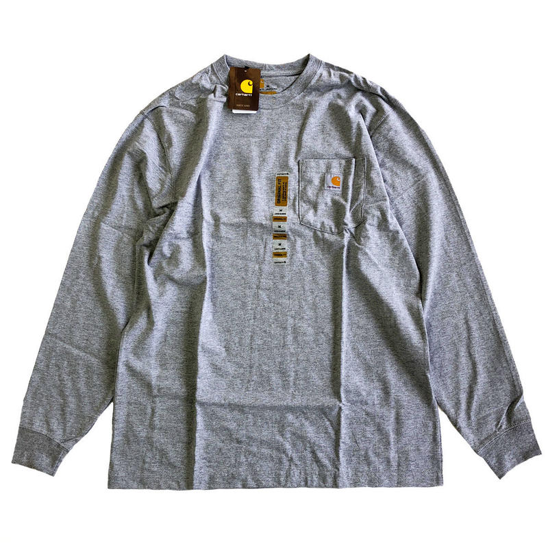 CARHARTT /  L/S WORKWEAR POCKET TEE   HEATHER GREY カーハート 長袖ポケットTシャツ