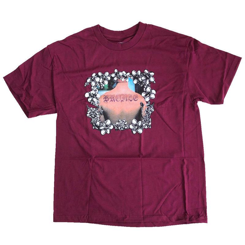 BRONZE 56K  BACK TAT  TEE  BURGUNDY  Tシャツ