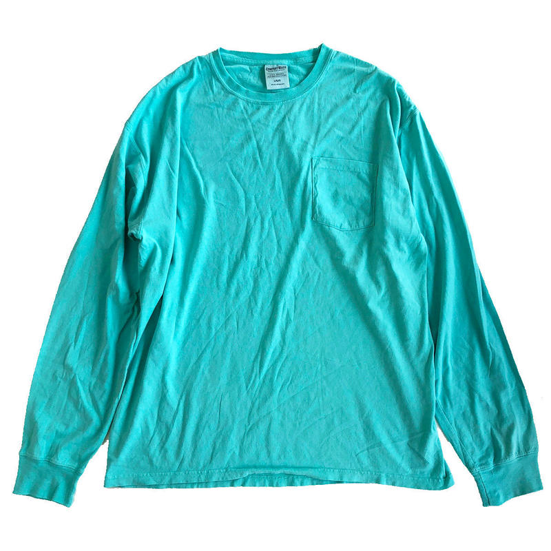 COMFORT WASH BY HANES / Ringspun Cotton Garment-Dyed TEE ヘインズ 長袖TシャツMINT  後染め