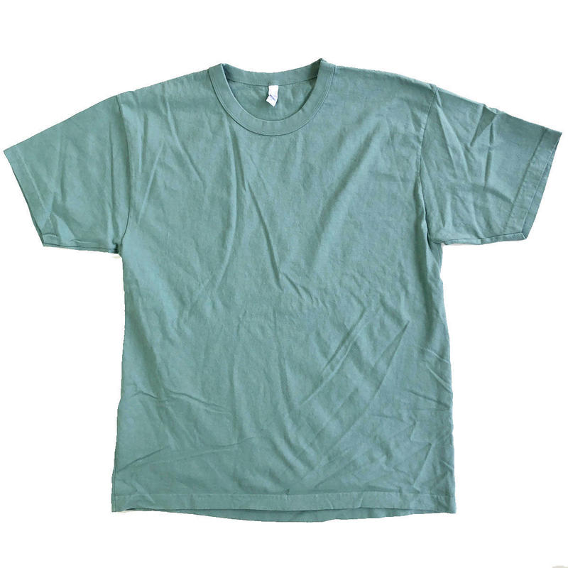 LOS ANGELES APPAREL 8.5oz Garment Dye S/S TEE ATLANTIC GREEN ロサンゼルス アパレル 後染め Tシャツ MADE IN USA