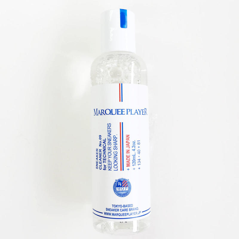 MARQUEE PLAYER(マーキープレイヤー)SNEAKER CLEANER No.09 for TECHNICAL テクニカル 防水透湿性繊維 洗浄液 スニーカークリーナー