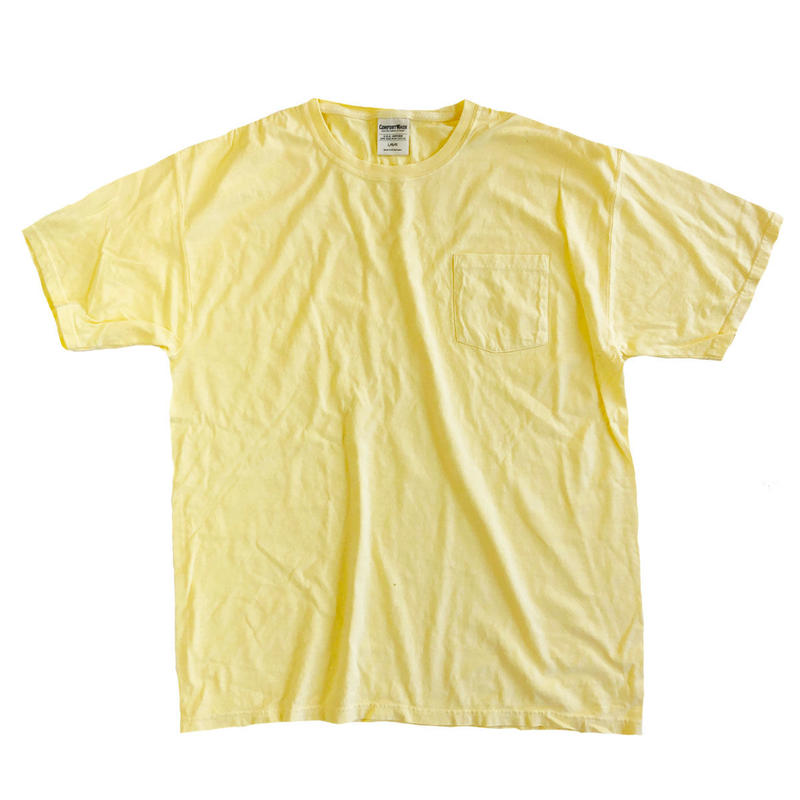 COMFORT WASH BY HANES / Ringspun Cotton Garment-Dyed S/S TEE SUMMER SQUASH ヘインズ 後染め Tシャツ