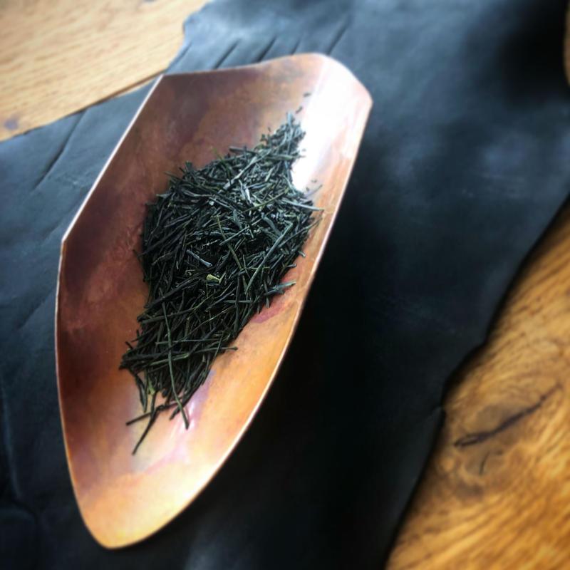 【好信楽 祿 別注】  Skyiron製 銅製薫流染茶則  313uneune