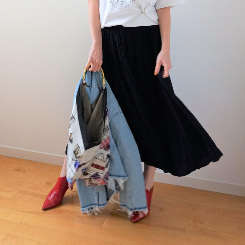 <R.vintage(rv0077)>navy  skirt