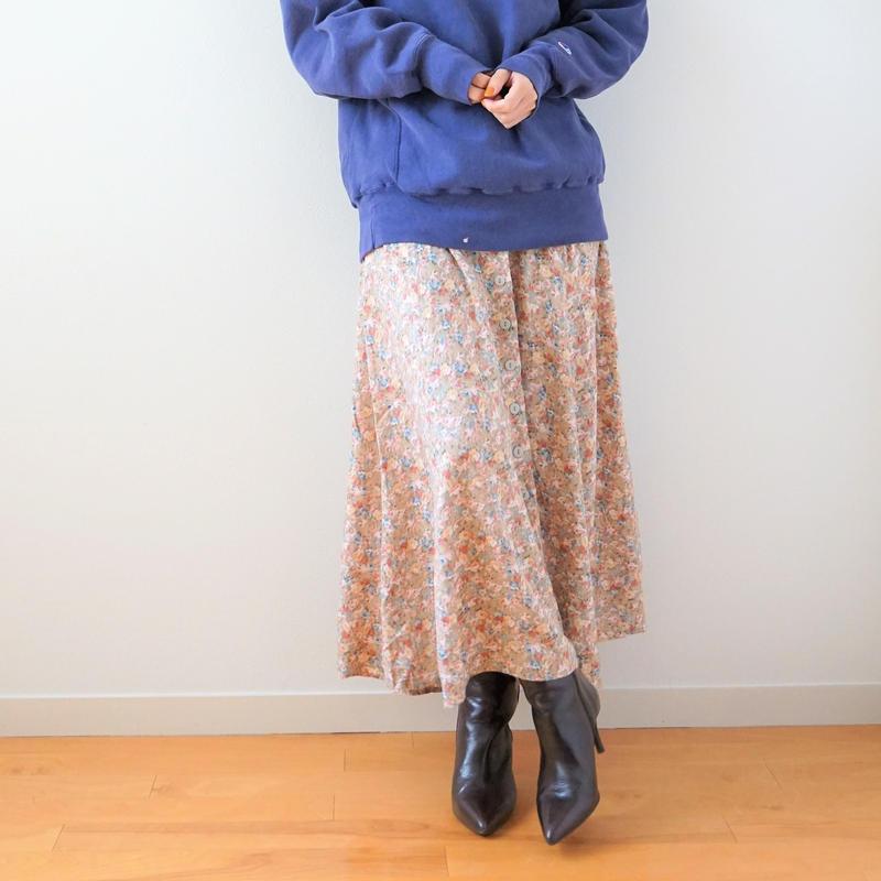 <R.vintage(rv0026)>flower skirt