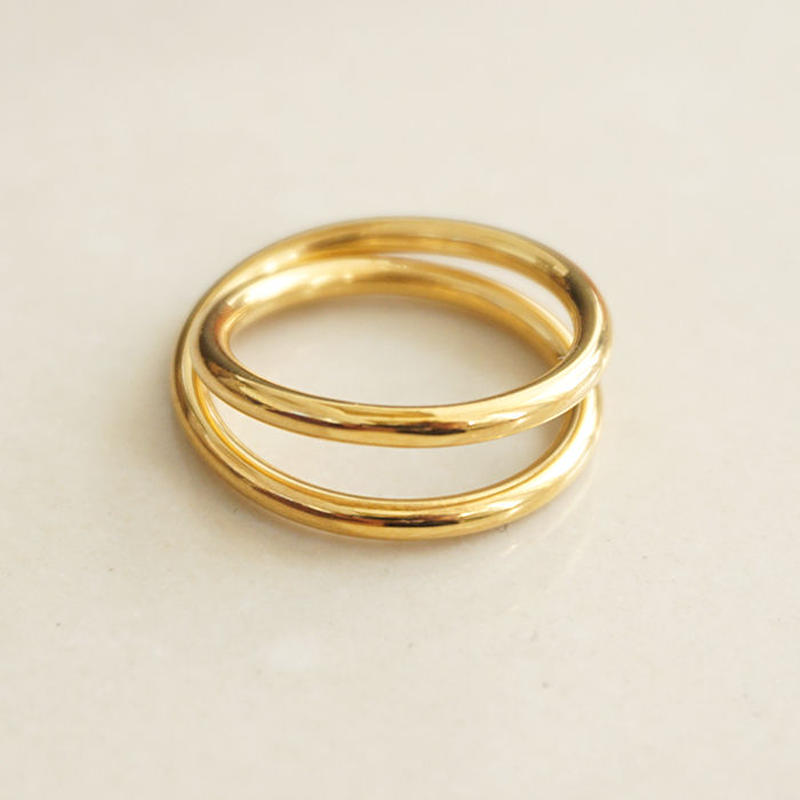 gold double ring(119-5228)