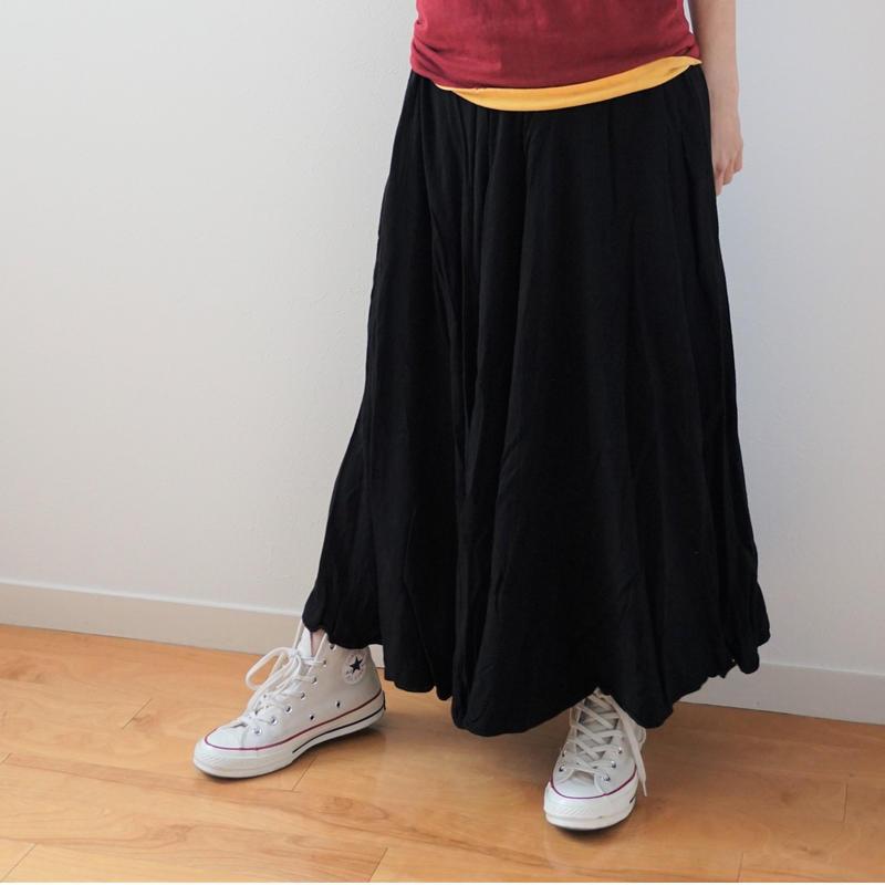 <R.vintage(rv0076)>black long skirt