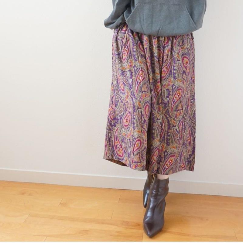<R.vintage(rv0070)>printed skirt