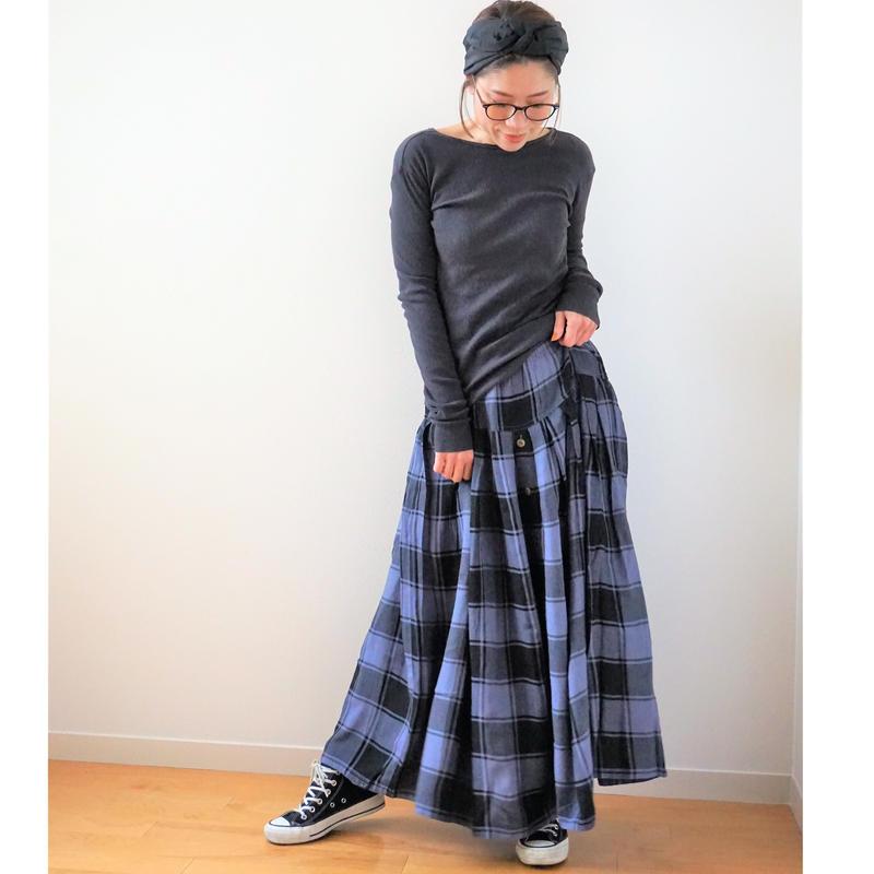 <R.vintage(rv0028)>check skirt