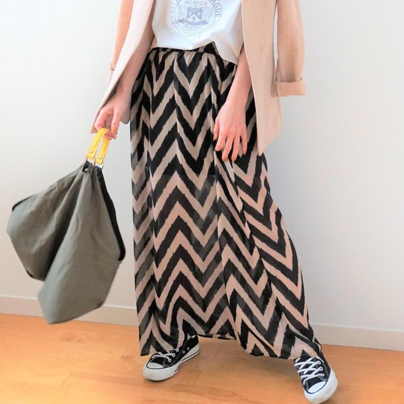 <R.vintage(rv0027)>printed skirt