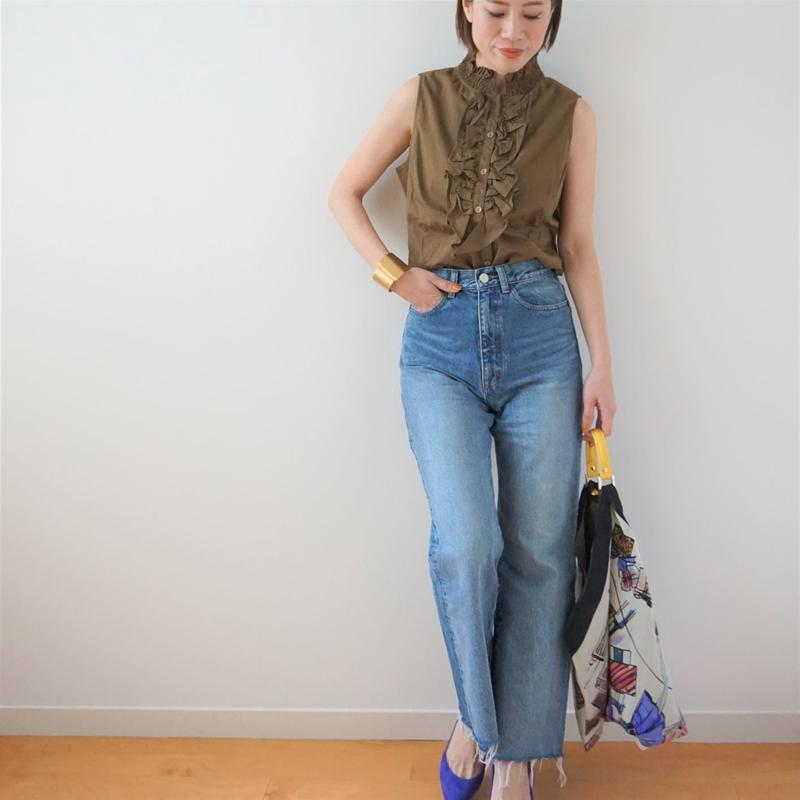 <R.vintage(rv0009)>sleeveless blouse