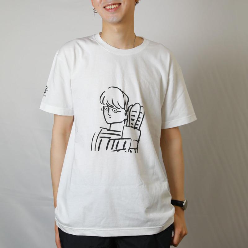 【受注生産】ROCK THE HOUSE City Boy Tシャツ 7.1オンス へヴィーウェイト Tシャツ ホワイト イラスト かわいい